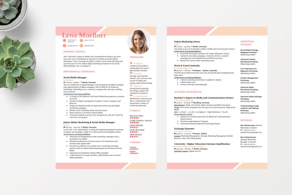 Lebenslauf Auf Englisch Muster Für Cv Und Resume