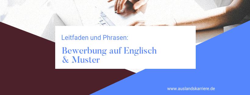 Englische Bewerbung Muster Leitfaden Für Eine Bewerbung Auf Englisch